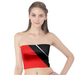 Black and red design Tube Top
