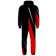 Black and red design Hooded Jumpsuit (Men)