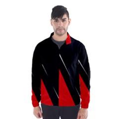 Black and red design Wind Breaker (Men)