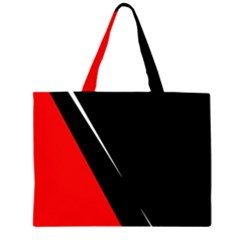 Black and red design Large Tote Bag