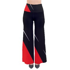 Black and red design Pants