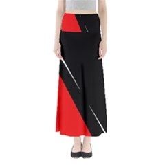 Black and red design Maxi Skirts