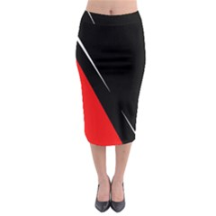 Black and red design Midi Pencil Skirt