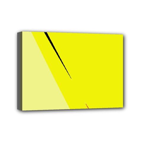 Yellow design Mini Canvas 7  x 5
