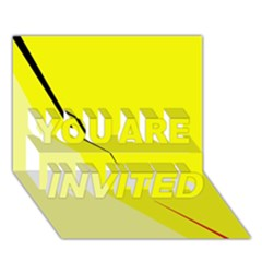 Yellow design YOU ARE INVITED 3D Greeting Card (7x5)