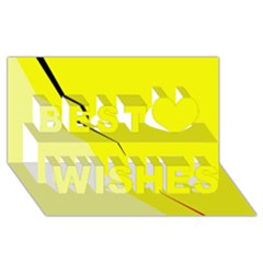 Yellow design Best Wish 3D Greeting Card (8x4)