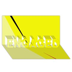 Yellow design ENGAGED 3D Greeting Card (8x4)
