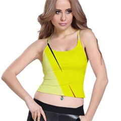 Yellow design Spaghetti Strap Bra Top