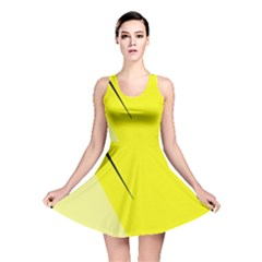 Yellow design Reversible Skater Dress