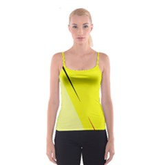 Yellow design Spaghetti Strap Top