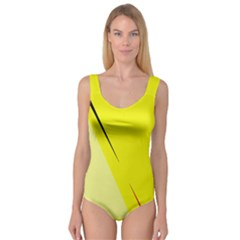 Yellow design Princess Tank Leotard