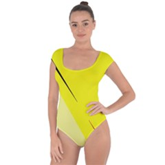 Yellow design Short Sleeve Leotard