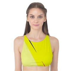 Yellow design Tank Bikini Top