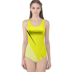 Yellow design One Piece Swimsuit