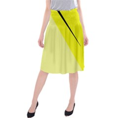 Yellow design Midi Beach Skirt