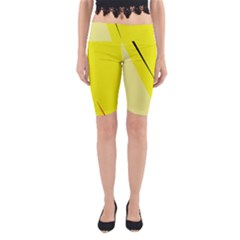 Yellow design Yoga Cropped Leggings