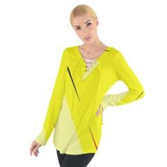 Yellow Design Women s Tie Up Tee