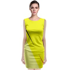 Yellow Design Classic Sleeveless Midi Dress