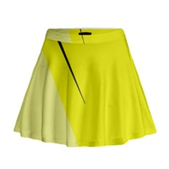 Yellow design Mini Flare Skirt