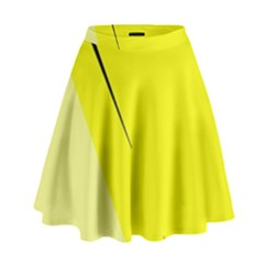 Yellow design High Waist Skirt
