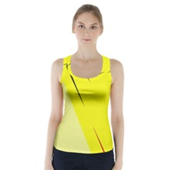 Yellow design Racer Back Sports Top