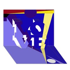 Geometrical abstraction LOVE 3D Greeting Card (7x5)