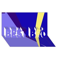 Geometrical abstraction BEST BRO 3D Greeting Card (8x4)