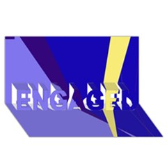 Geometrical abstraction ENGAGED 3D Greeting Card (8x4)