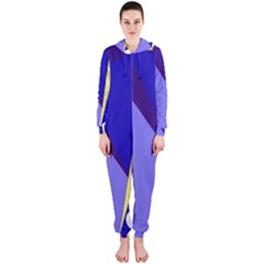 Geometrical abstraction Hooded Jumpsuit (Ladies)