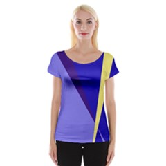 Geometrical abstraction Women s Cap Sleeve Top