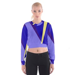 Geometrical abstraction Women s Cropped Sweatshirt