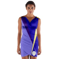 Geometrical abstraction Wrap Front Bodycon Dress