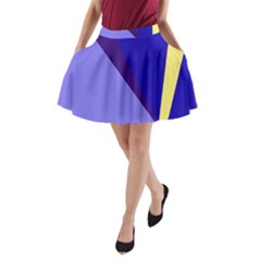 Geometrical Abstraction A Line Pocket Skirt