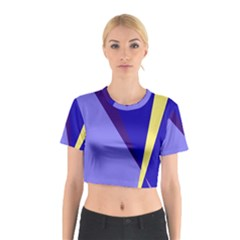 Geometrical abstraction Cotton Crop Top