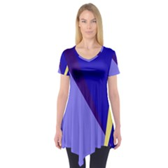 Geometrical Abstraction Short Sleeve Tunic
