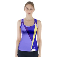Geometrical abstraction Racer Back Sports Top