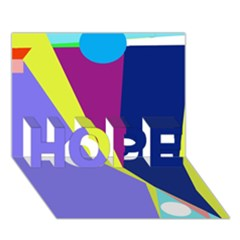 Geometrical abstraction HOPE 3D Greeting Card (7x5)