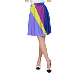 Geometrical abstraction A-Line Skirt