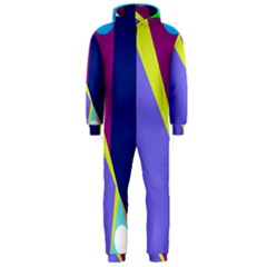 Geometrical abstraction Hooded Jumpsuit (Men)
