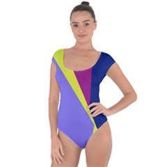 Geometrical abstraction Short Sleeve Leotard