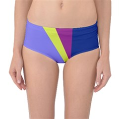 Geometrical abstraction Mid-Waist Bikini Bottoms