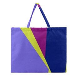 Geometrical abstraction Zipper Large Tote Bag