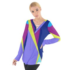 Geometrical abstraction Women s Tie Up Tee