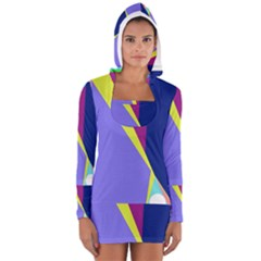 Geometrical abstraction Women s Long Sleeve Hooded T-shirt