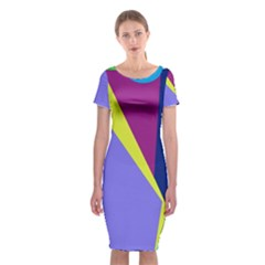 Geometrical abstraction Classic Short Sleeve Midi Dress