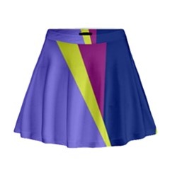Geometrical abstraction Mini Flare Skirt
