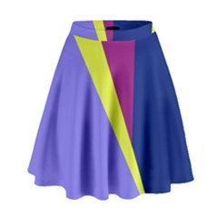 Geometrical abstraction High Waist Skirt