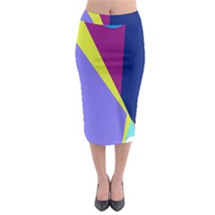 Geometrical abstraction Midi Pencil Skirt