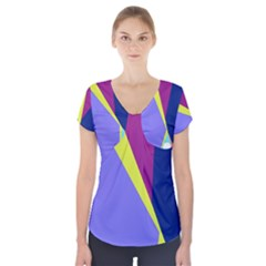 Geometrical abstraction Short Sleeve Front Detail Top