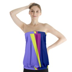 Geometrical Abstraction Strapless Top
